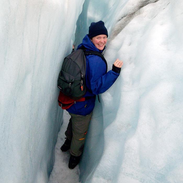 Klettern im Franz-Josef Gletscher in Neuseeland, der kälteste Ausflug meines Trips.