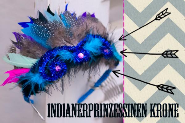 DIY für eine Indianer-Prinzessinen-Krone