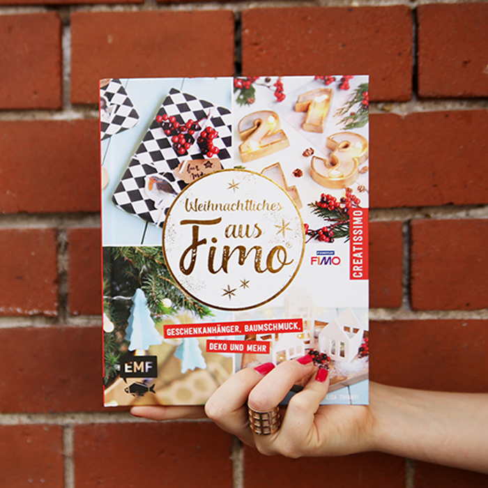DIY Freunde Adventskalender Türchen Nummer 3 mit Lisa von Mein Feenstaub und weihnachtlichen FIMO Ideen: Gewinn-Fimo-Buch