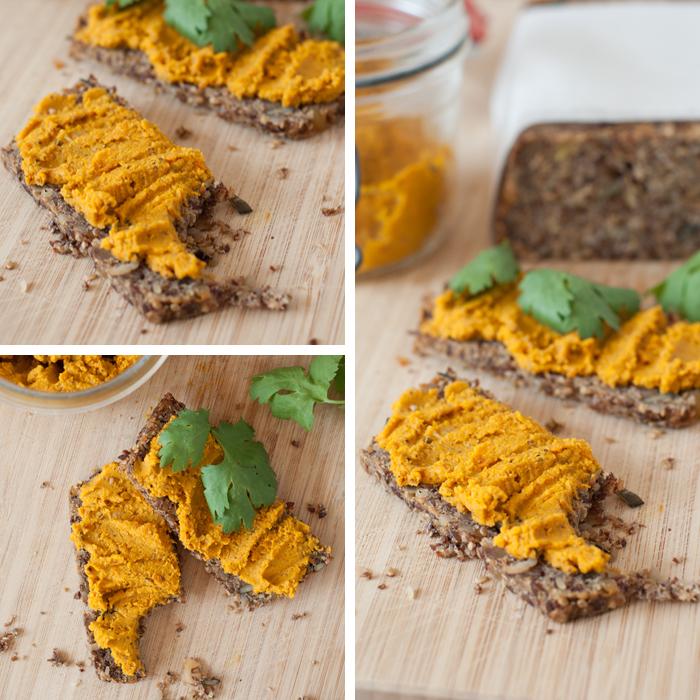 Rezept für ein Paleo Karotten Hummus ohne Kichererbsen