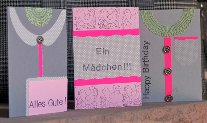 Tolle Grußkarten aus Flohmarktfunden für Marktwelten.de