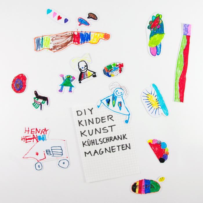 Kinder-Kunst-Magnete oder auch: der Start in die Weihnachtsbastelei