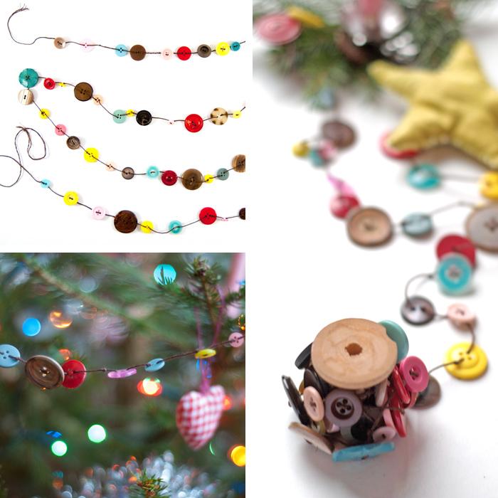 Mit dieser DIY Knopfgirlande verschönerst du garantiert jeden Weihnachtsbaum. Und sie ist ganz einfach nach zu basteln!