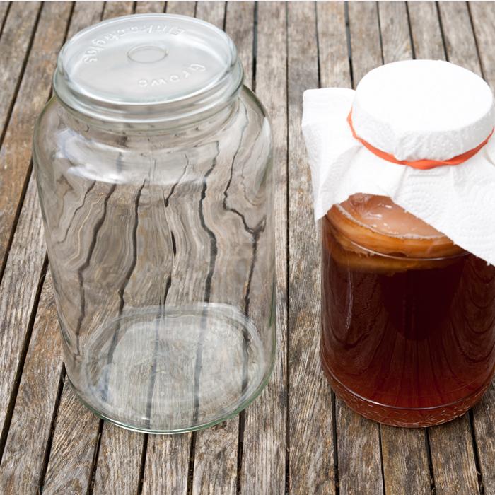 Flohmarktfund: Altes 5l Einmachglas mit Deckel für meinen Kombucha