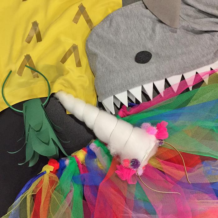 DIY Last-Minute Kostüme – Einhorn, Hai oder Ananas, ist doch logo!