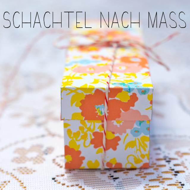 Schachtel auf Mass – z.B. für Macarons