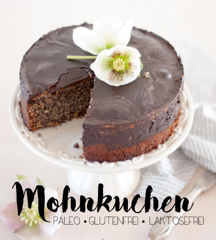 Ein super saftiger Mohn-Nusskuchen ganz ohne Mehl und raffinierten Zucker! Der perfekte Kuchen für die Paleo Kaffeetafel zu Ostern. Und mit ein paar echte Blüten als Deko auch noch ein frühlingshafter Hingucker. Ein Rezept von johannarundel.de