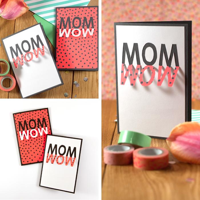 MOM du bist WOW! Mit dieser schnell gemachten DIY Grußkarte zum Muttertag hast du ratzfatz ein tolles Geschenk für deine Mama gebastelt - garantiert ohne Kitsch! Wie die Pop-Up Karte für die beste Mutter der Welt gebastelt wird, verrate ich dir auf meinem Blog: www.johannrundel.de