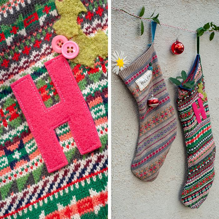 Nächste Woche ist schon Nikolaus! Deshalb habe ich schnell aus ein paar ausrangierten Strickpullis personalisierte Weihnachts-Strümpfe genäht. Diese Upcycling-Idee ist ganz leicht und macht viel her. Anleitung auf johannarundel.de