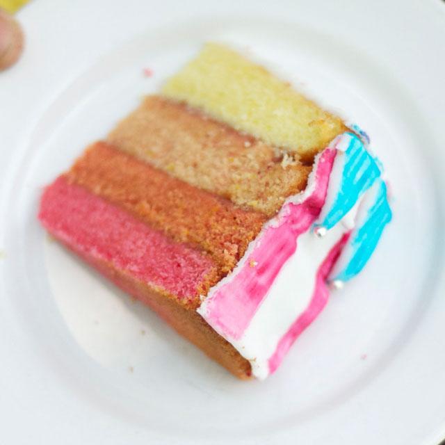 Torte Mit Farbeverlauf Seiltanzerin