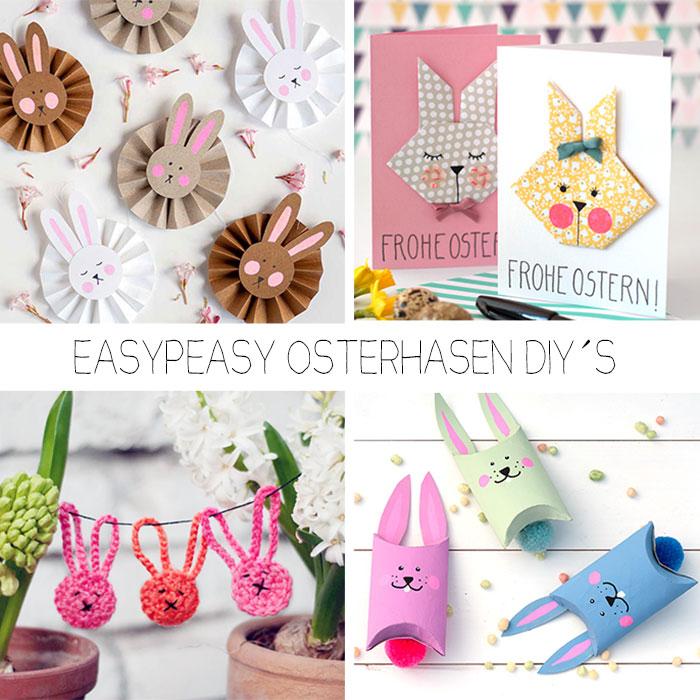 Fünf easypeasy Osterhasen-DIY´s