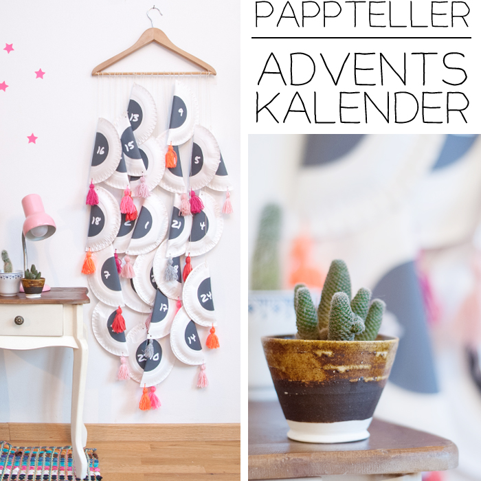 diy adventskalender aus papptellern. Black Bedroom Furniture Sets. Home Design Ideas