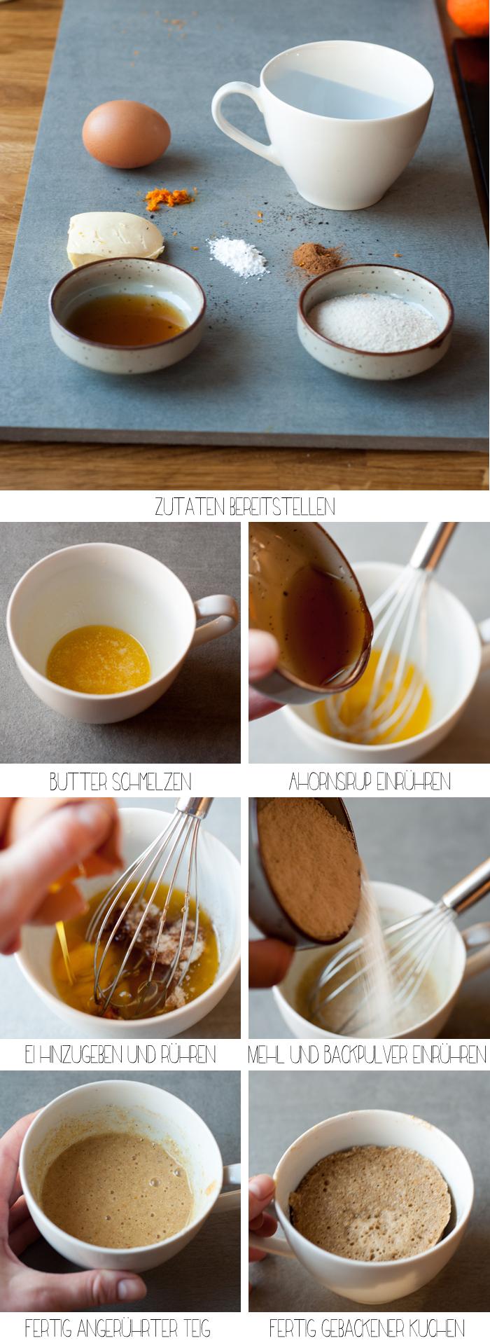 Anleitung: Tassenkuchen geht auch Paleo! Mit Cassava-Mehl. Er ist glutenfrei, lactosefrei, ohne Getreide und raffinierten Zucker. Und ganz schnell gemacht! - ein perfektes Paleo Frühstück. Ein Rezept von johannarundel.de