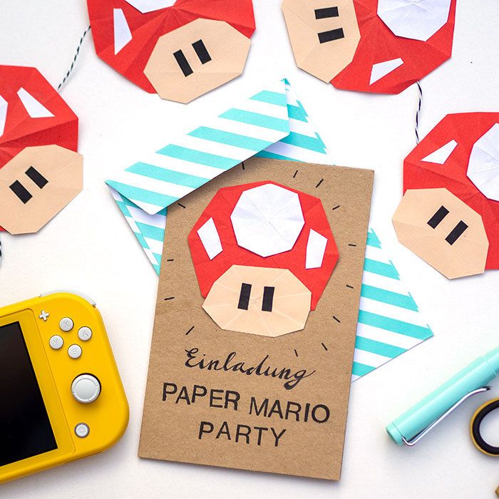 Lustiger DIY-Paper-Mario-Pilz und mega Gewinnspiel!