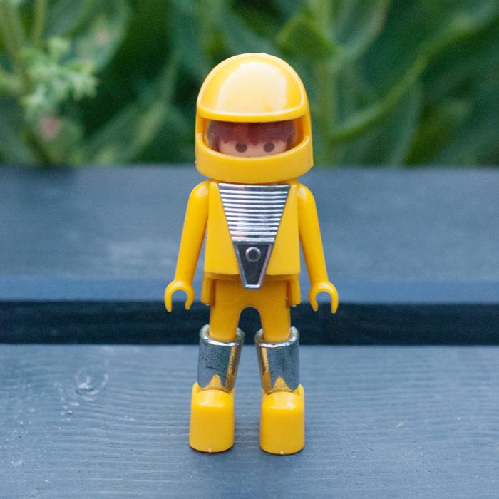 Flohmarktfund: Gelber, vintage Playmobiltaucher