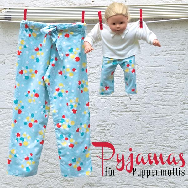 Schicke Kinder-Schlafanzugshose aus einem alten Nachthemd
