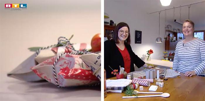 TV-Beitrag für RTL Hessen zum Thema nachhaltige Geschenkverpackungen
