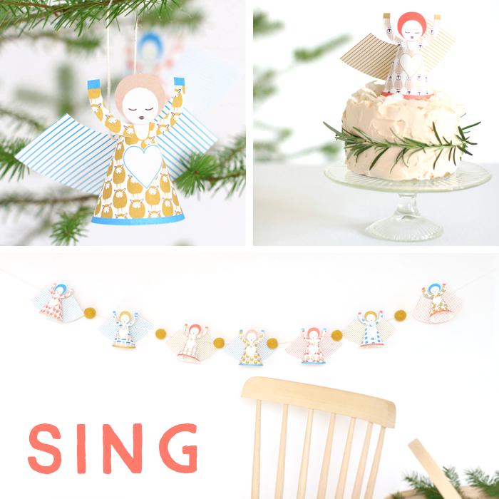 SING : Adventskalender Türchen Nummer Vier mit Sabine Wittig von la mesa und wunderschönen Papierengeln von Jurianne Matter