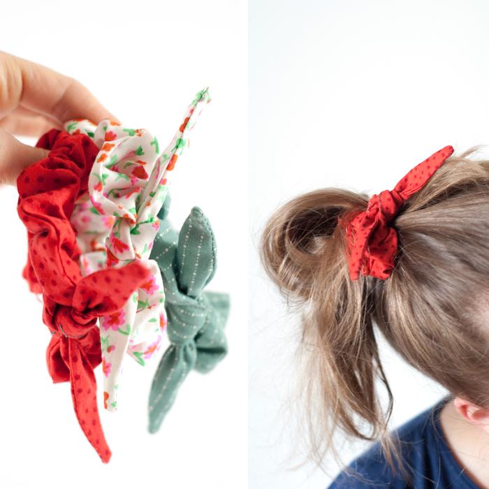 What! Das Stoffschlauch-Schrumpelhaarband ist zurück... Wie du dir das Kulthaarband aus den 1980er Jahren ganz einfach selber nähen kannst, verrate ich dir in meinem Blogpost. Das Schnittmuster für die süße Schleife, die dem Haarband noch  eine ganz besondere Note verleiht, gibt es als kostenlosen Download - viel Spaß!