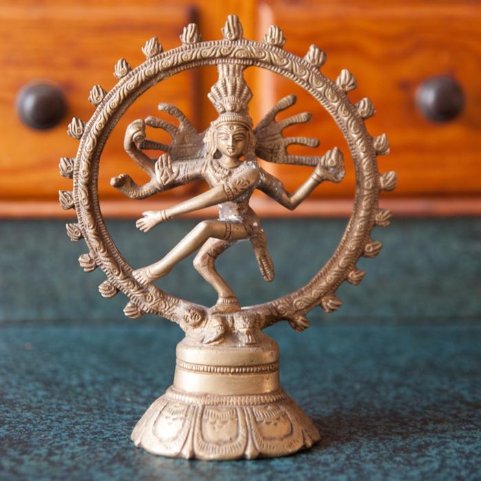 Flohmarktfunde: Kleine Shiva Statue aus Messing
