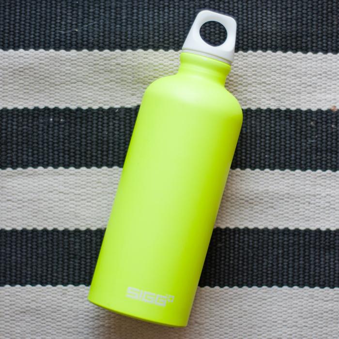 Flohmarktfunde: Sigg Flasche in neongelb