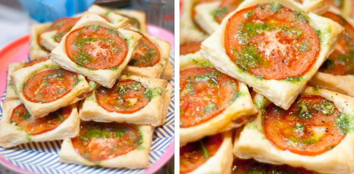 Tomaten-Blätterteig Tartes