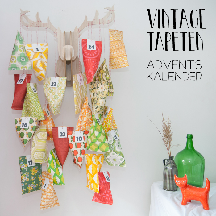 diy adventskalender aus vintage tapeten. Black Bedroom Furniture Sets. Home Design Ideas