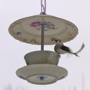 Vogelhäuschen aus Porzellan