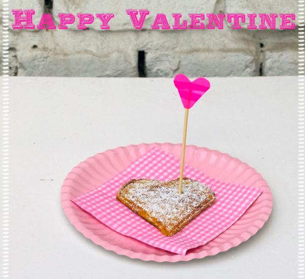 Herzwaffeln zum Valentinstag