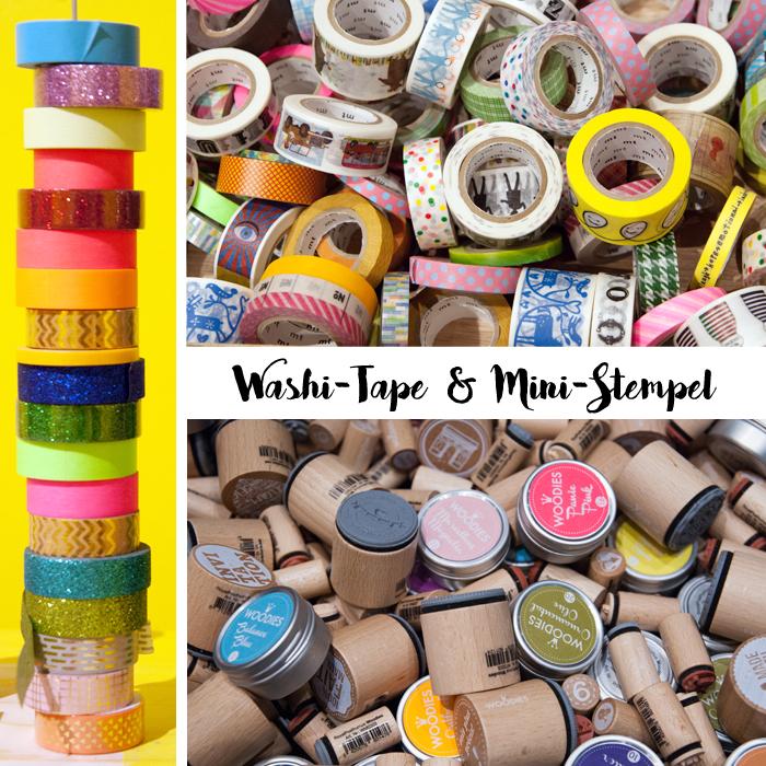 Trends von der Creativeworld Messe 2017: Washi-Tape_Mini-Stempel