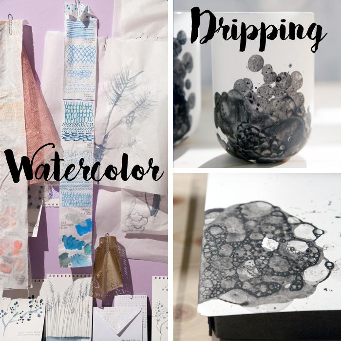 Trends von der Creativeworld Messe 2017: Watercolor_dripping
