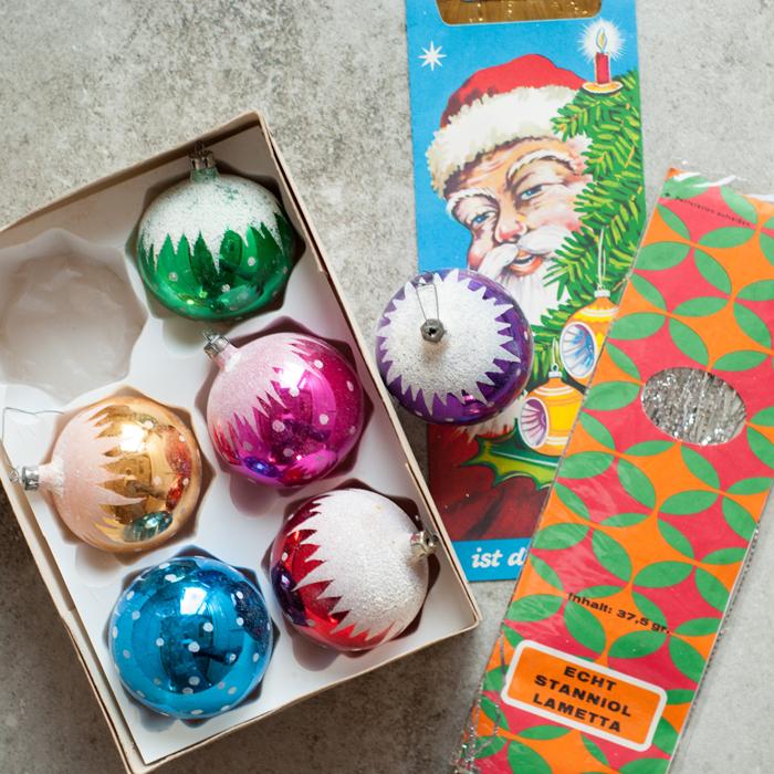 Flohmarktfunde: Weihnachtsbaumschmuck