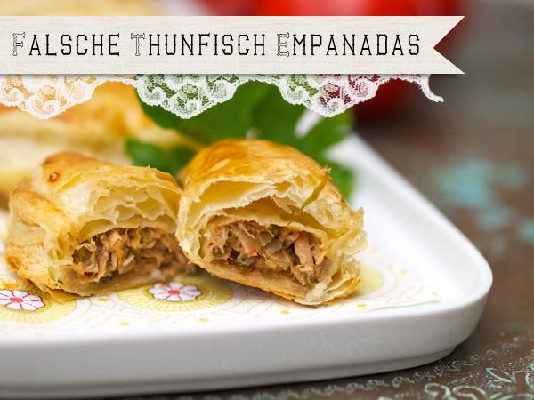 Thunfisch-Blätterteigtaschen oder falsche Empanadas