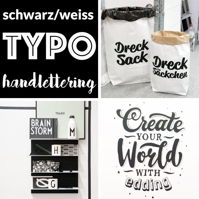 Trends von der Creativeworld Messe 2017: sw typo handlettering